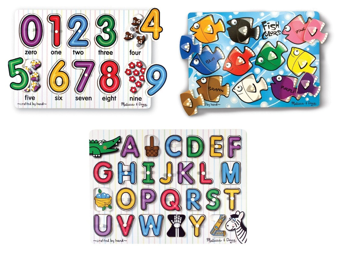MELISSA AND DOUG PEG PUZZLES