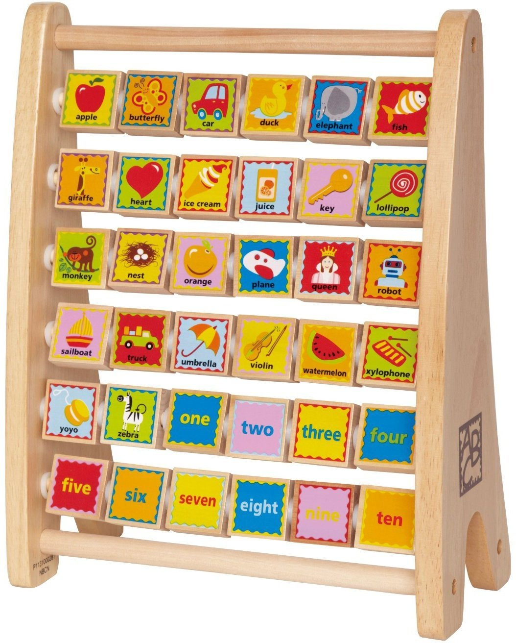 HAPE TOYS WOODEN ALPHABET ABACUS
