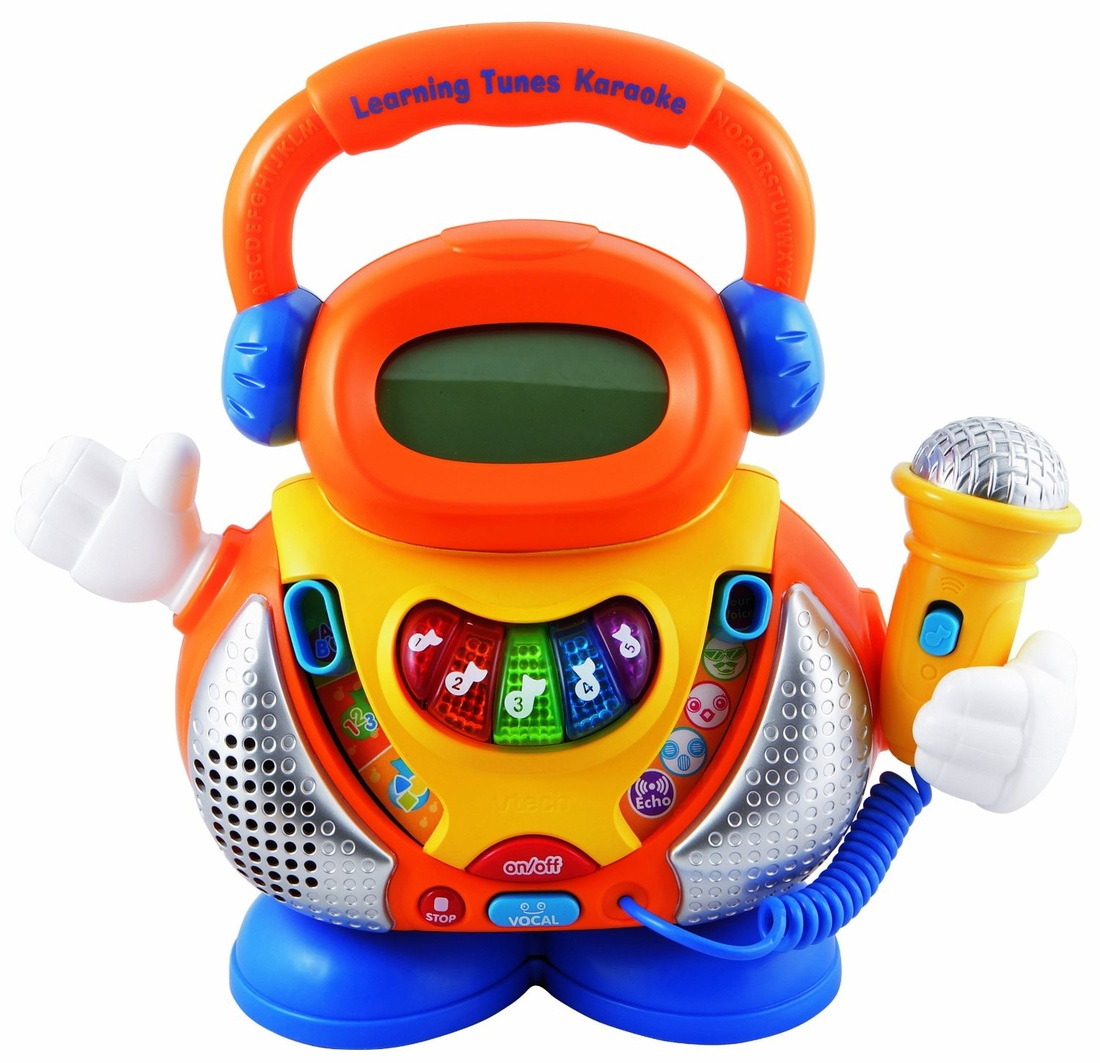 VTECH LEARNING TUNES KARAOKE SINGING MACHINE Top toys for 3 year old girls - TOP TOYS