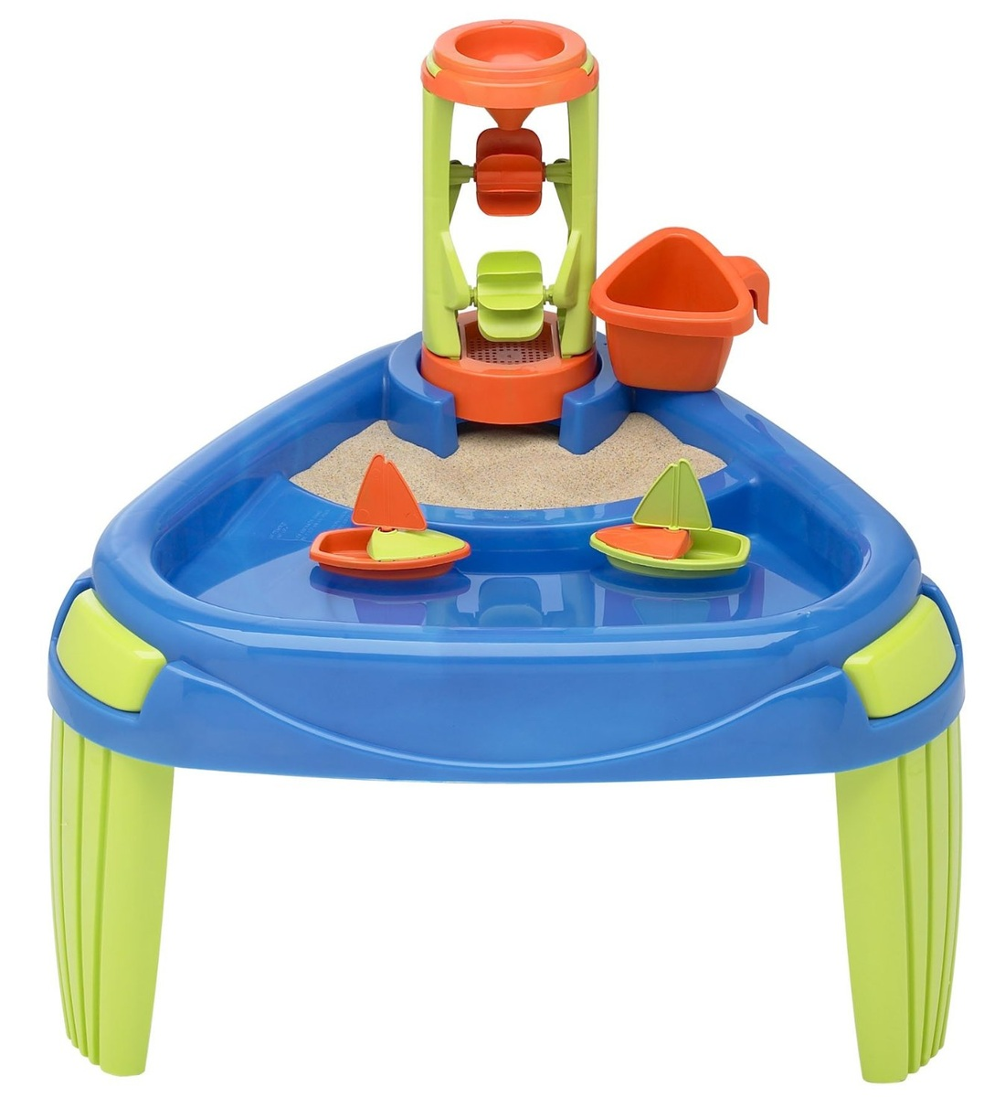 AMERICAN PLASTIC WATER WHEEL AND SAND PLAY TABLE